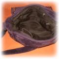 Śliwkowy zestaw torba i szalik