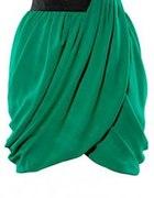 zielona drapowana spódnica HM
