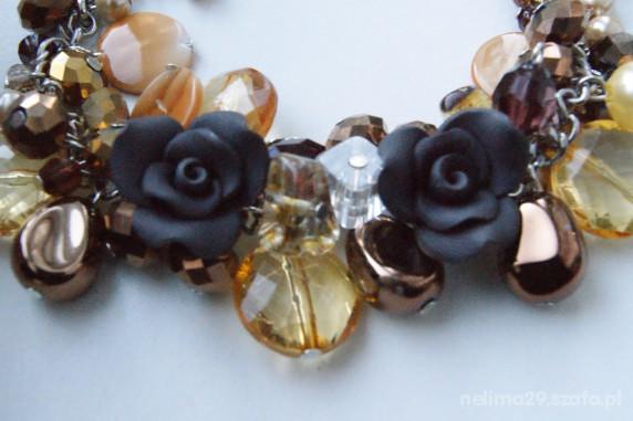 piekna brazowa bransoletka z rozami