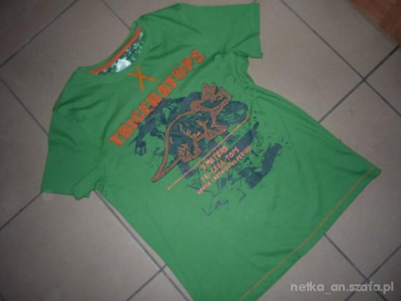 Koszulki, podkoszulki ROZM 158 CHEROKEE tshirt Z DINOZAUREM KAPITALNY