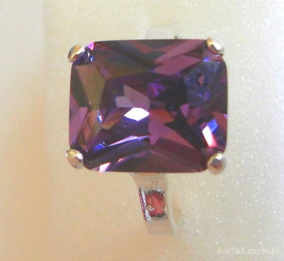 Srebro i fiolet pierścionek cena z wysyłką