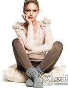 Sweter H M Angora falbanki ciepły i miękki