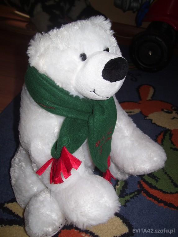 Zabawki Śnieżno biały miś polarny