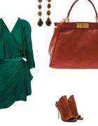 Zielony satynowy lanvin