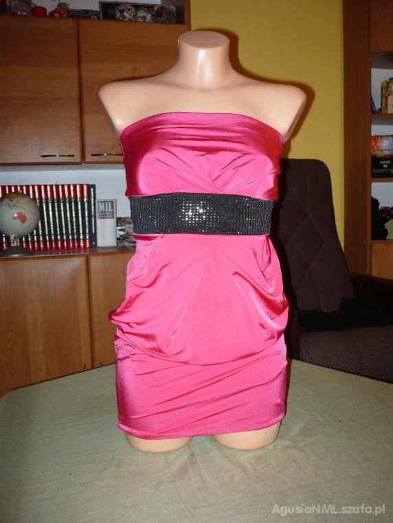 Suknie i sukienki sukienka tally weijl tunika różowa tuba