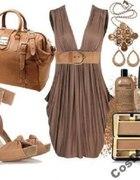 sukienka beż