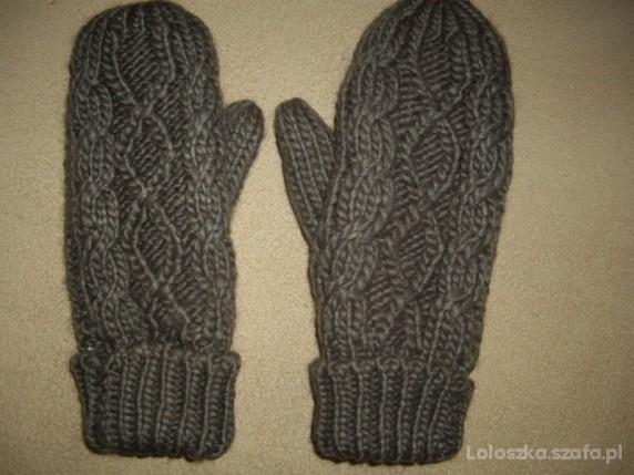 Zimowe grube rękawiczki