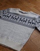 Sweterek w norweski wzór rozmiar 38