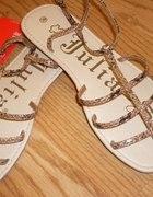 Nowe sandałki skóra węża TANIO