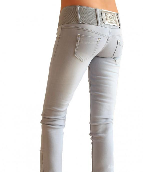 spodnie jasne rurki 38 m