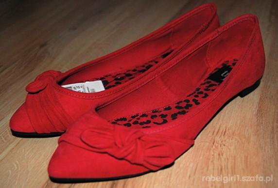 Zara baleriny czerwone