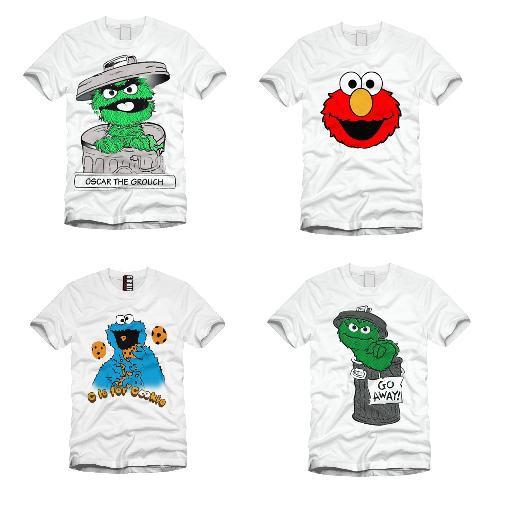 T-shirt ulica sezamkowa bluzka bluzki