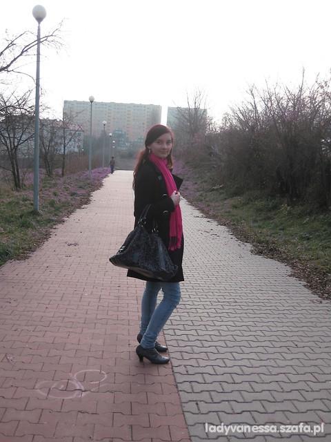 Mój styl pink scarf