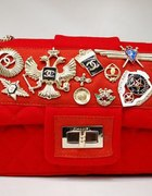 Chanel red Romanov Wool badges