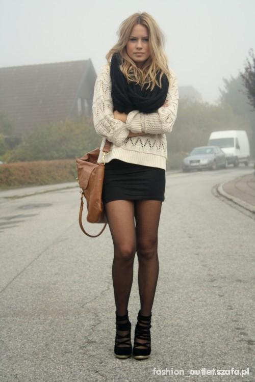 sweterek nude jak top shop M
