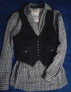 bershka tunika koszula w krate