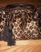 Pojemna torebka w panterkę