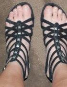 czarne gladiatorki vero moda...