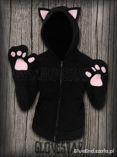 Czarna Bluza kotek Glovestar