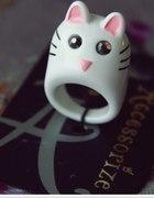Vintage pierścionek kot kotek od Accessorize