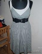 Sukienko tunika w czarno białe paski