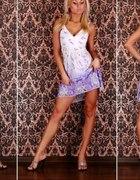 Lenia sukienka biało fioletowa