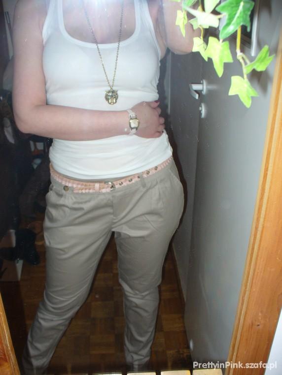 Mój styl Beżowe spodnie