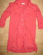 rozowa łososiowa koszula bershka 38 tunika