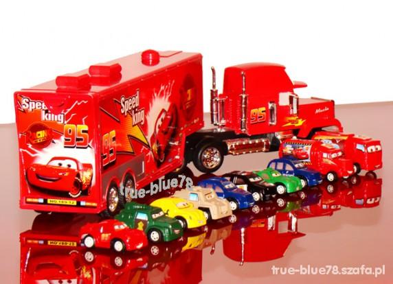 Zabawki MARIAN MANIEK TIR CARS LAWETA 50CM i zestaw 10 AUT