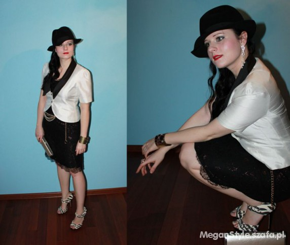 Eleganckie black and white set