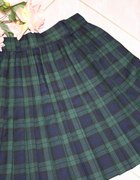 japan style spodnisia plisowana w kratke