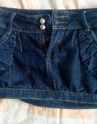 jeansowa mini z ćwiekami