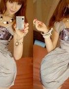 Prześliczna Krótka Sukienka Japan Style