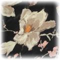 czarna apaszka w kwiaty