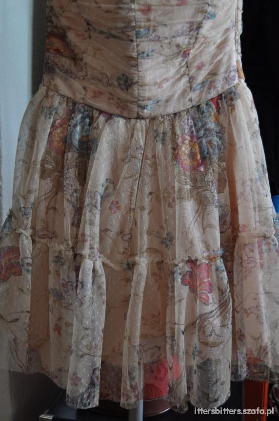 zara trf sukienka w kwiaty
