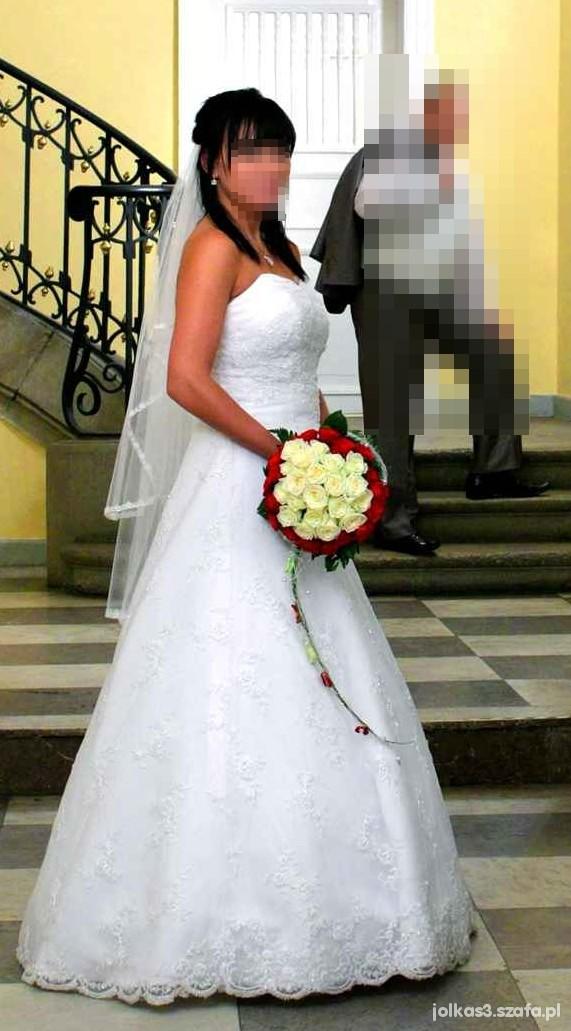Suknia ślubna Biała Bogato Zdobiona W Suknie ślubne Szafapl