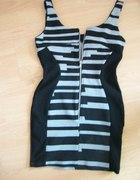 sukienka seksy mała czarna zip