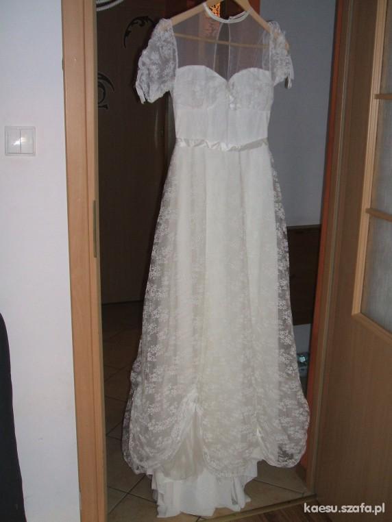 822a150fc9 koronkowa retro suknia slubna 36 w Suknie ślubne - Szafa.pl