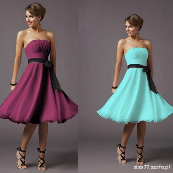 cefdb34052 Zwiewna sukienka fioletowa w Suknie i sukienki - Szafa.pl