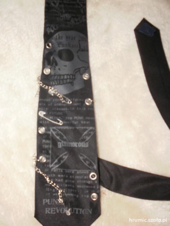 Pozostałe emo goth punk krawat