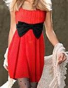 Sukienka hm pin up w kropki z kokardą 34 XS
