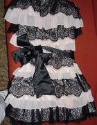 czarno różowa