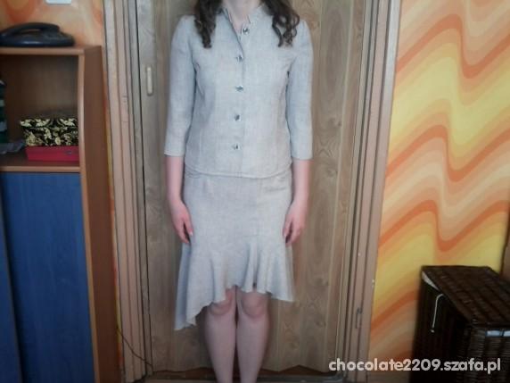 Eleganckie żakiet i spódnica