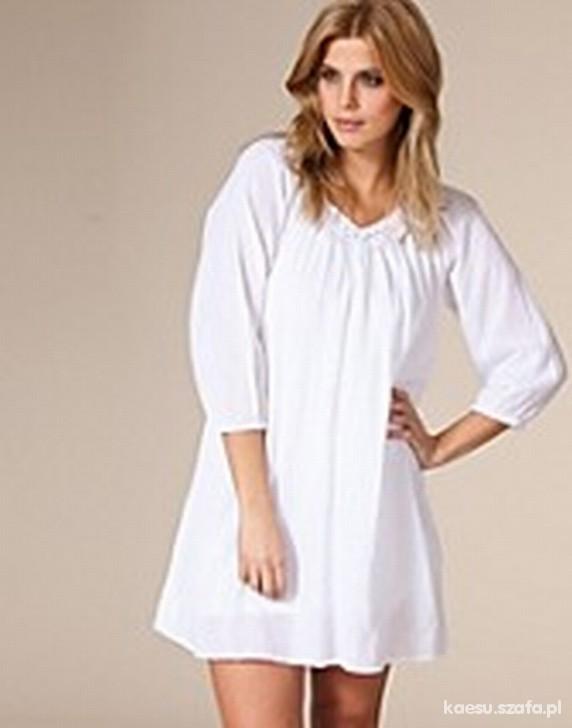 Długa biała koszula do legginsów rurek M L XL w Koszule  XGyL2