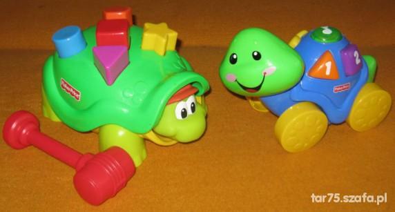 Zabawki 2 żółwie Fisher Price edukacyjny i zręcznościowy