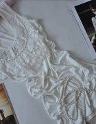 Bluzka bluzeczka koronka perełka M do L