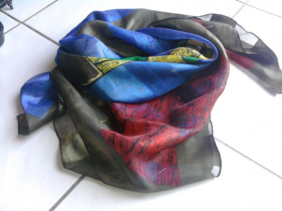 Chusty i apaszki chusta kolorowa