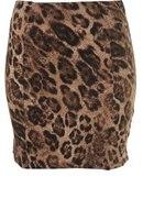 Topshop leopard skirt