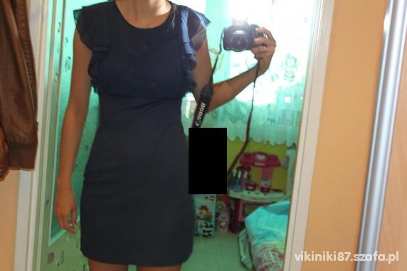 Eleganckie sukienka granatowa