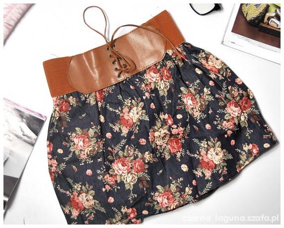 Spódnica floral rozm xs s m